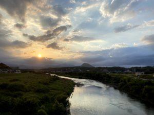 明磧の風景
