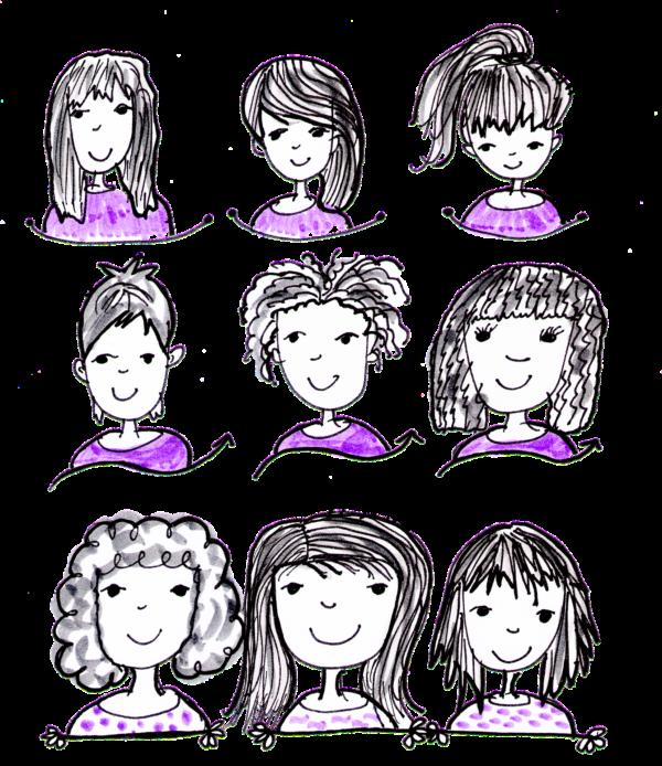 色々な髪型